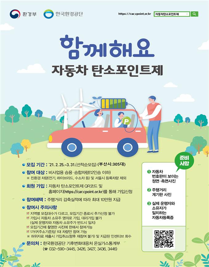 부산시, 「자동차 탄소포인트제」 참여자 모집