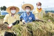 이철우 경북도지사, 추수 현장에서 농부들과 수확의 기쁨 함께해